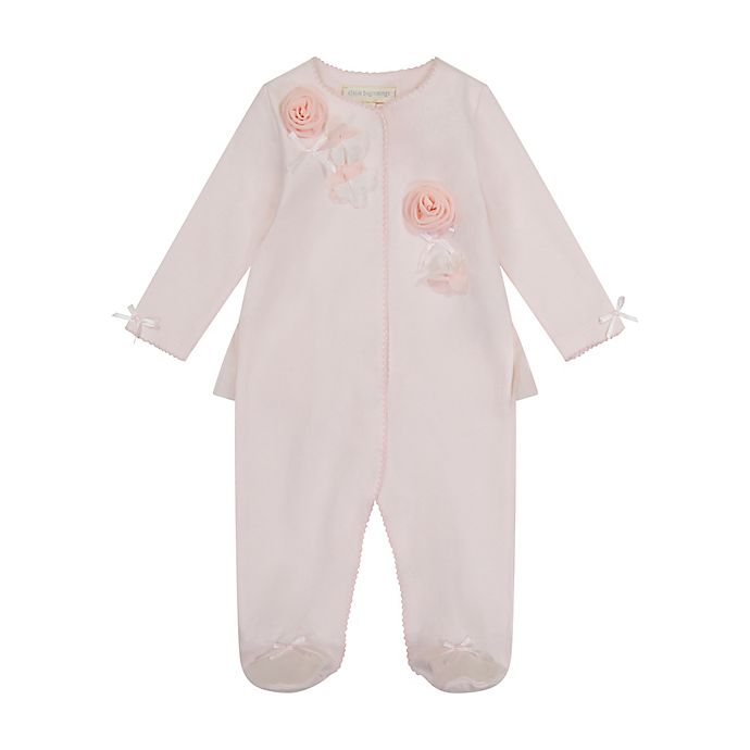 Alternate image 1 for Clasix Beginnings™ by Miniclasix® Preemie Footie with Rosettes in Pink