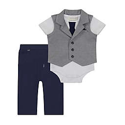 Clasix Beginnings™ by Miniclasix® 3-Piece Vest, Bodysuit and Pant Set in Grey
