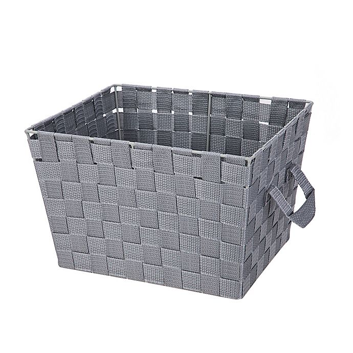 Alternate image 1 for Squared Away™ Woven Storage Bin in Heather Grey