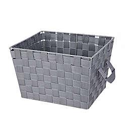 Squared Away™ Woven Storage Bin in Heather Grey