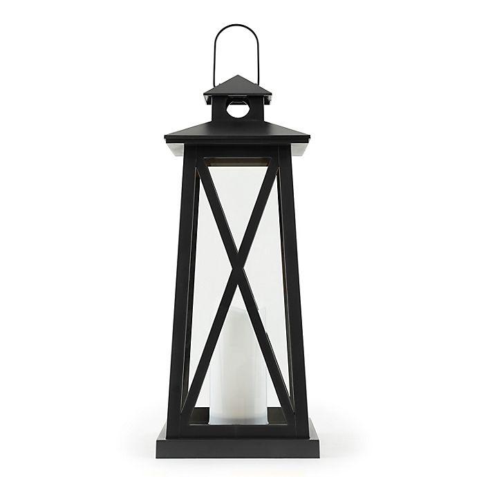 Alternate image 1 for Sterling & Noble LED Lantern in Satin Black