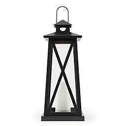 Sterling & Noble LED Lantern in Satin Black