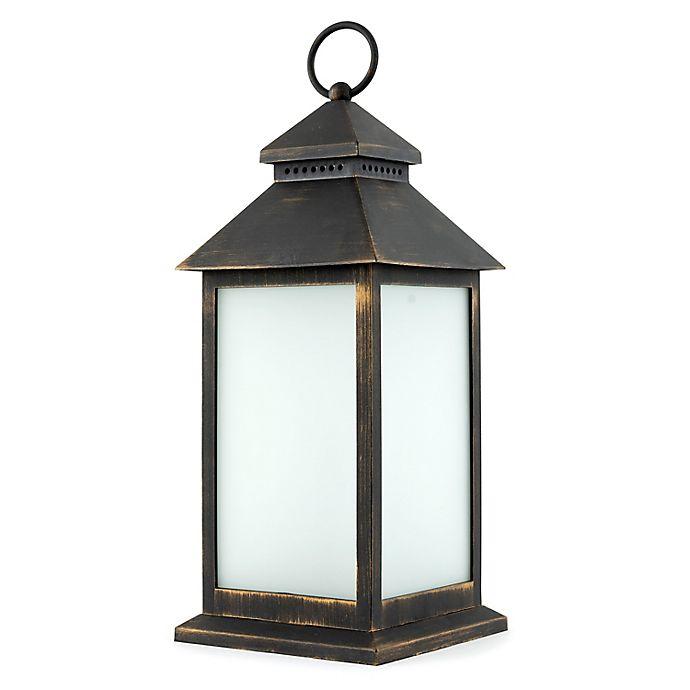 Alternate image 1 for Sterling & Noble LED Lantern in Antique Bronze