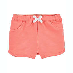carter's® Size 12M Pull-On French Terry Shorts in Coral