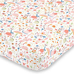 NoJo® Spring Garden Mini Fitted Crib Sheet in Pink
