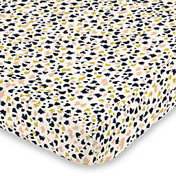 NoJo® Terrazzo Fitted Crib Sheet in Charcoal