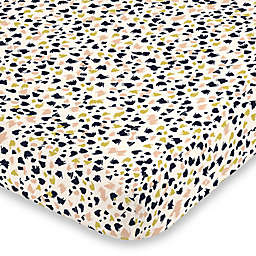 NoJo® Terrazzo Mini Fitted Crib Sheet in Charcoal