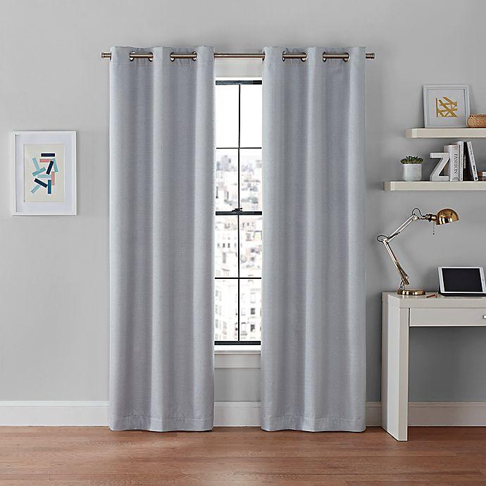 Alternate image 1 for Brookstone®  Galaxy 100% Blackout Grommet Window Curtain Panels (Set of 2)