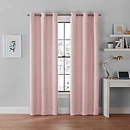 Brookstone® Galaxy 108-Inch 100% Blackout Grommet Window Curtain Panels in Pink (Set of 2)