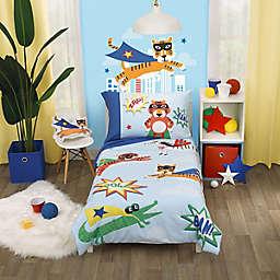 Everything Kids by NoJo® Superhero 4-Piece Toddler Bedding Set in Blue