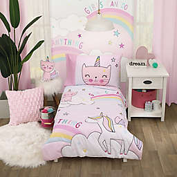 Everything Kids by NoJo® Caticorn 4-Piece Toddler Bedding Set in Pink