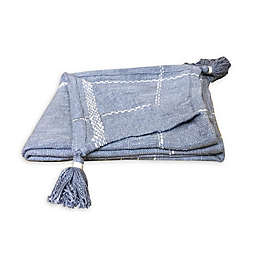 Bee & Willow™ Plaid Throw Blanket in Blue/Cream