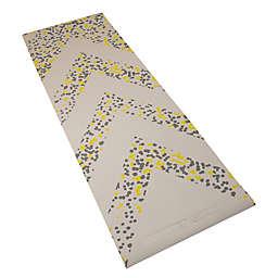 GoZone 6mm Chevron Paint Dot Printed PVC Yoga Mat in Grey
