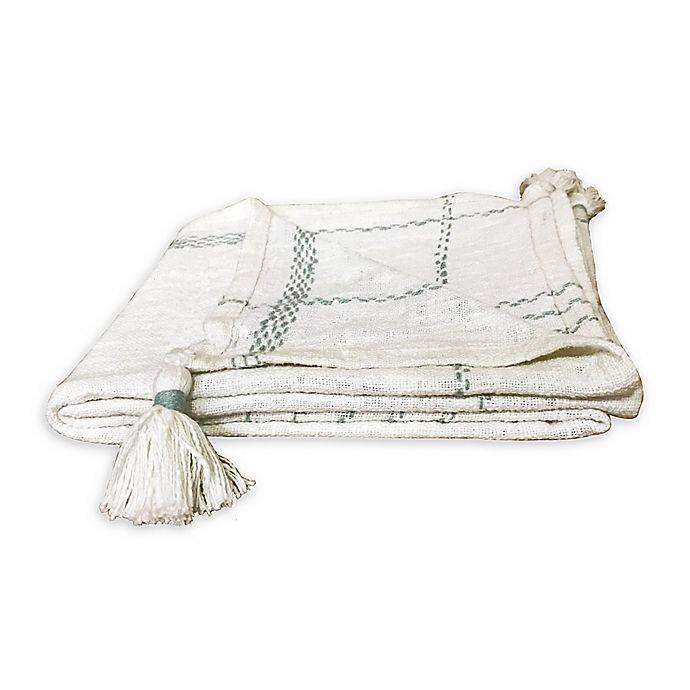 Alternate image 1 for Bee & Willow™ Plaid Throw Blanket in Mint/Cream