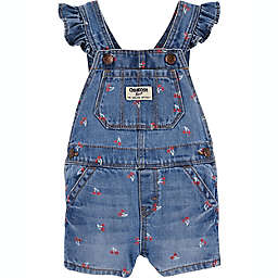 OshKosh B'gosh® Cherry Flutter Sleeve Shortall in Blue/Red