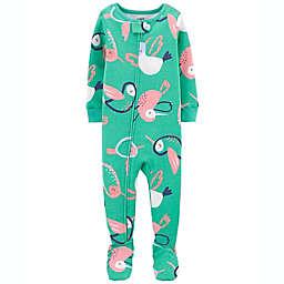 carter's® Size 24M Bird 1-Piece 100% Snug Fit Cotton Footie PJs in Teal