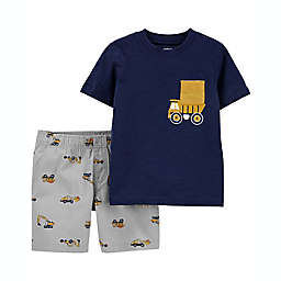 carter's® 2-Piece Truck T-Shirt and Short Set in Navy