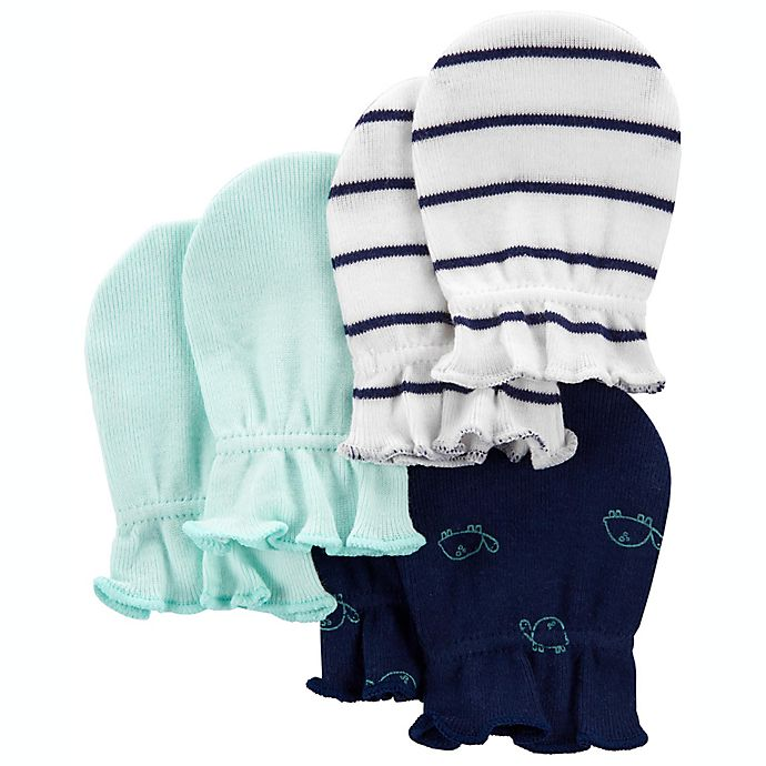Alternate image 1 for carter's® 3-Pack Turtle Mittens