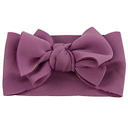 Tiny Treasures Large Bow Headband in Purple