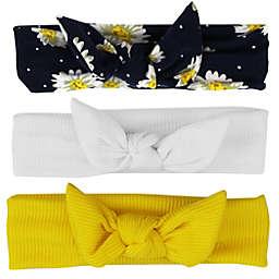 Tiny Treasures 3-Pack Daisy Headband Set in White/Yellow