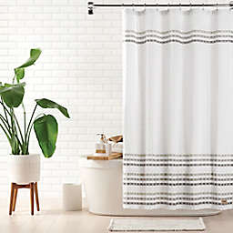 UGG® Audree 72-inch x 72-inch Standard Shower Curtain in White/Grey