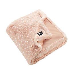 UGG® Elsie Faux Fur Throw Blanket in Quartz