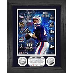 NFL New England Patriots Tom Brady 10 Super Bowl Appearances Silver Coin Photo Mint