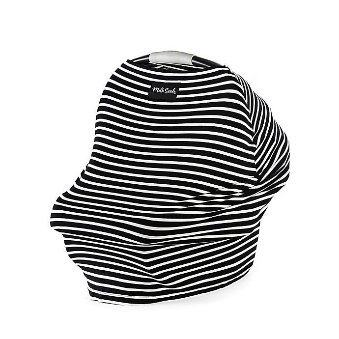 Alternate image 1 for Milk Snob® Modern Stripe Multi-Use Car Seat Cover in Black