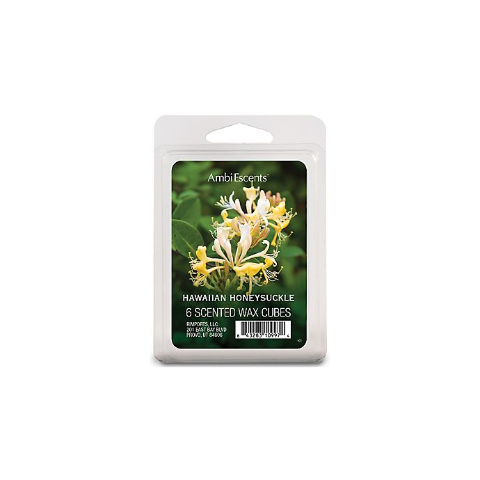 Alternate image 1 for AmbiEscents™ 6-Pack Hawaiian Honeysuckle Scented Wax Cubes