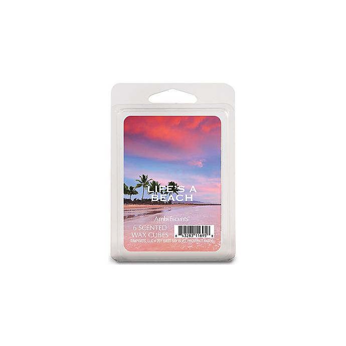 Alternate image 1 for AmbiEscents™ Life's a Beach 6-Pack Scented Wax Cubes
