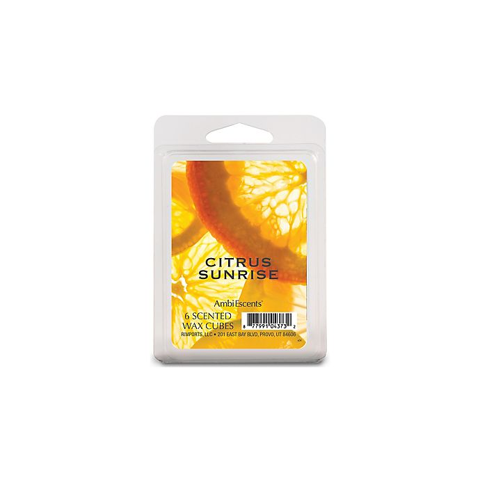 Alternate image 1 for AmbiEscents™ Citrus Sunrise 6-Pack Wax Fragrance Cubes