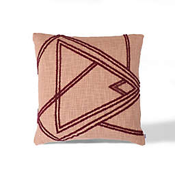 Divine Home Dusty Rose Shapes Abstract Square Throw Pillow