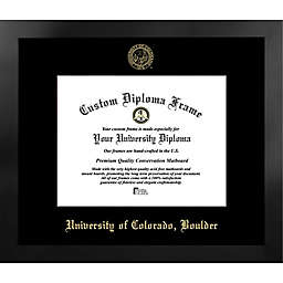 University of Colorado 16.25-Inch x 18.75-Inch Gold Foil Seal Diploma Frame in Black