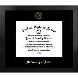University of Iowa 17-Inch x 15-Inch Gold Foil Seal Diploma Frame in Black