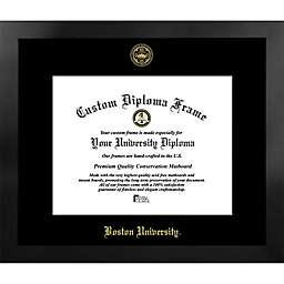 Boston University 19-Inch x 22-Inch Gold Foil Seal Diploma Frame in Black