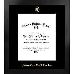 University of South Carolina 19-Inch x 22-Inch Gold Foil Seal Diploma Frame in Black