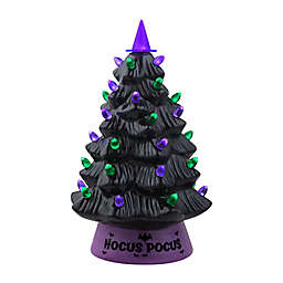 12-Inch Artificial Vintage LED Halloween Tree in Black