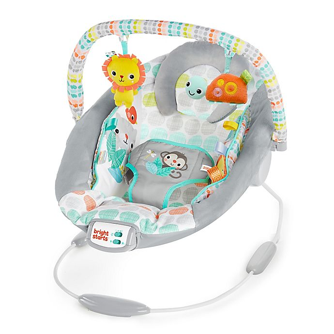 Alternate image 1 for Bright Starts Whimsical Wild Infant Cradle Musical Bouncer