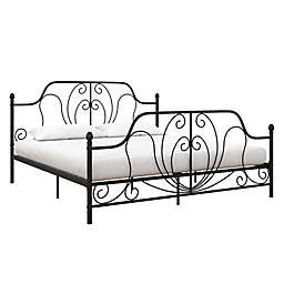 Atwater Living Levy King Metal Bed Frame in Black