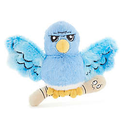 BARK Lawn Bird with Wormie Squeaker Dog Toy in Blue