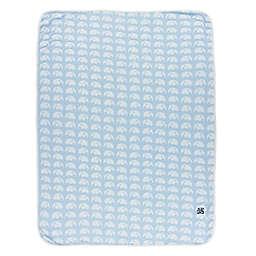 KicKee Pants® Elephant Swaddle Blanket in Blue