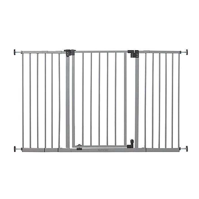 Alternate image 1 for Summer™ Secure Space™ Extra-Wide Safety Gate in Grey