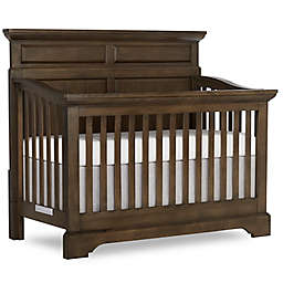 evolur™ Park Slope Panel 4-in-1 Convertible Crib in Distressed Brown