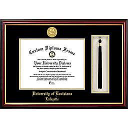 University of Louisiana at Lafayette School Seal Graduation Tassel and Diploma Frame
