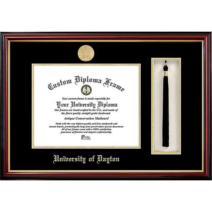 Alternate image 1 for University of Dayton School Seal Graduation Tassel and Diploma Frame