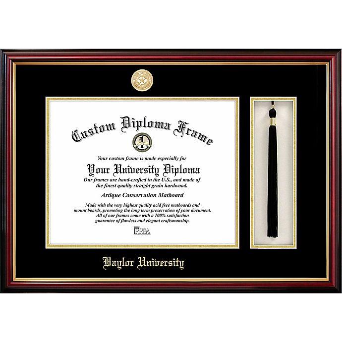 Alternate image 1 for Baylor University School Seal Graduation Tassel and Diploma Frame