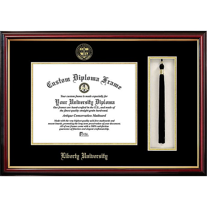 Alternate image 1 for Liberty University School Seal Graduation Tassel and Diploma Frame