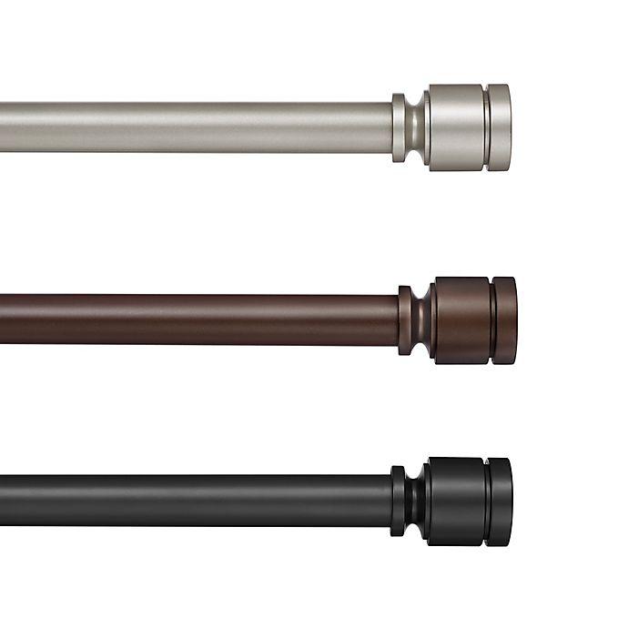 Alternate image 1 for Cambria® Deco Adjustable Single Curtain Rod Set