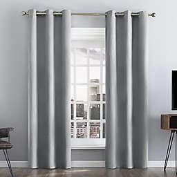 Sun Zero® Damon Pinstripe Stitch Thermal Blackout 96-Inch Curtain Panel in Gray (Single)