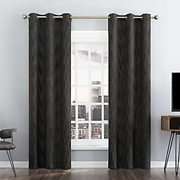 Sun Zero® Damon Pinstripe Stitch Thermal Total Blackout Grommet Curtain Panel (Single)